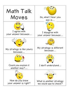 A mini version of my Math Talk Moves Posters for individual use.