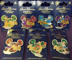 Here is a look at the limited release Shanghai Disney Resort Opening Day Pins! Grand opening was June 16, 2016.