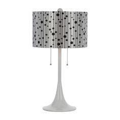 AF Lighting Modern Table Lamp with Silver Shades in White Finish | 8439-TL | Destination Lighting