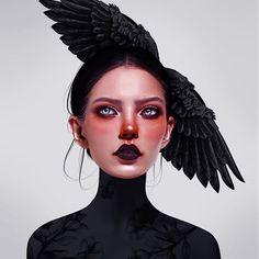 Laura H. Rubin is a digital artist and illustrator based in Bern, Switzerland. Digital Art Fantasy, Digital Art Girl, Digital Portrait, Portrait Art, Fantasy Art, Surealism Art, Digital Art Tutorial, Surreal Art, Aesthetic Art