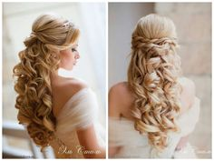 9 beautiful bridal hairstyles that will inspire you . - 9 beautiful bridal hairstyles that will delight you - Prom Hair Updo, Wedding Hairstyles For Long Hair, Wedding Hair And Makeup, Bride Hairstyles, Down Hairstyles, Bridal Hair, Hair Wedding, Sweet 16 Hairstyles, Quince Hairstyles