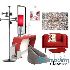 Mod Classics by cindisarco on Polyvore featuring interior, interiors, interior design, home, home decor, interior decorating, Blu Dot, Arktura, Gandà a Blasco and Knoll