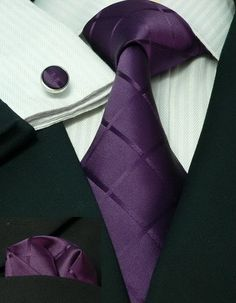 Wedding Color Inspiration-Fall/Winter | Purple crystal cuff links www.endorajewellery.etsy.com