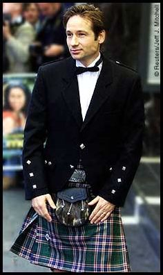 David Duchovny in a kilt... There is a God.