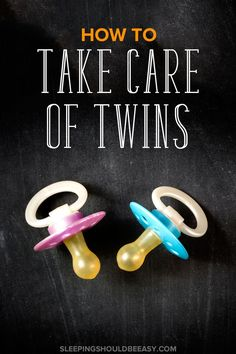 Must-read tips for surviving life with newborn twins. It's hard enough caring for one baby. From sleeping to feeding to using the right products, check out this article on how to take care of twins. Perfect for every twin mom!