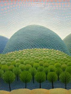 Ivan Rabuzin : On the hills - primeval forest, 1960 : detail Landscape Art, Landscape Paintings, Landscapes, Ivan Rabuzin, Painting & Drawing, Watercolor Paintings, Ink In Water, Illustrator, Naive Art