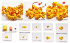 Rubber duck!--------- Patitos de hule Polymer clay .... Pasta francesa ... Fimo ... Porcelana Fria.