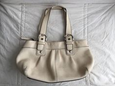COACH Soho Pleated Pebble Leather Shoulder Handbag Bag F13732 - Large #COACH #ShoulderBag