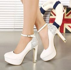 Glitter Ankle Strappy Green Shoes Patent Leather White Wedding Shoes Bridal Shoes Bridesmaid Shoes Size 34 to 39 from Tradingbear,$30.69 | DHgate.com