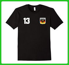 Mens GERMANY T-shirt Deutschland German Tee Retro Soccer Football Medium Black - Sports shirts (*Amazon Partner-Link)