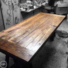 Handmade Wood Table Top. Farm Table. Dinning room table. Reclaimed wood table. Rustic wood table top. Custom Built