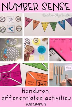 These are engaging hands on math center activities for grade students. All tasks are printable & include recording worksheets. Hands-on activities are perfect for small group lessons, whole class instruction, math centre rotations or math stations. Student Numbers, Teaching Numbers, Teaching Math, Teaching Ideas, Math Center Rotations, Activity Centers, Math Centers, Hands On Activities, Learning Activities