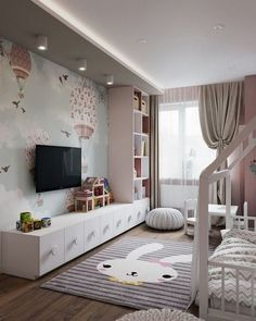 The Basics of Pattern Wall Ideas is part of Girl bedroom designs If you would like you can receive a bed customized to include everything you would like to see in your bunker bed Modifying the - Kids Bedroom Designs, Kids Room Design, Bunker Bed, Toddler Rooms, Baby Room Decor, Playroom Decor, Interior Design Living Room, Interior Livingroom, Girl Room