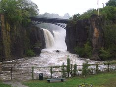 Aside from Niagara Falls, this is the biggest waterfall east of the Mississippi River, in Paterson, NJ, just two towns away from ours.