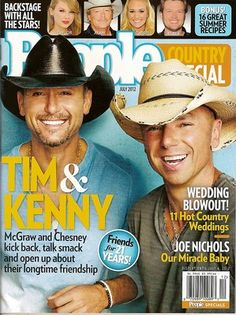 People Country special magazine, Tim McGraw, Kenny Chesney, July 2012~NEW