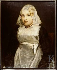 toegeschreven aan Willem Bartel van der Kooi Portret van een onbekende vrouw 1800-1824 #Friesland