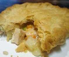 Easy #Chicken_Pot_Pie with Homemade Gravy.  Click For Recipe