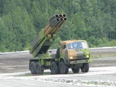 The 9A52-4 Tornado multiple launch rocket system
