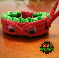"TMNT.. ""Ninja Turtles"" inspired Paracord bracelets...next ""Frozen"". For more information please visit www.550wraps.com"