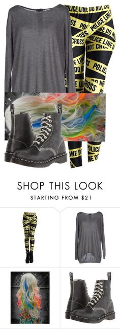 """""""I really like these leggings."""" by onedirection-emblem3 ❤ liked on Polyvore featuring ONLY and Dr. Martens"""