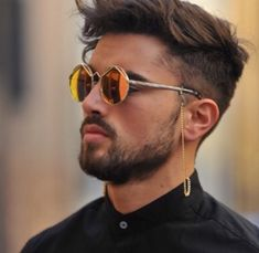 Cool guy with Cool Mens Haircuts, Stylish Haircuts, Cool Hairstyles For Men, Men's Haircuts, Le Specs, Mens Glasses, Wild Child, Eyeglasses, Eyewear
