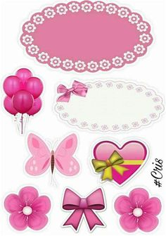 Diy And Crafts, Crafts For Kids, Paper Crafts, Printable Stickers, Planner Stickers, Label Shapes, Birthday Clipart, Barbie Party, Minnie Mouse Party