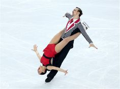 Ksenia Stolbova and Fedor Klimov of Russia compete in the Figure Skating Team Pairs Free Skating