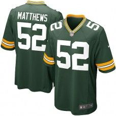 Nike Mens Green Bay Packers Clay Matthews Jersey 52 Game Team Color Green  Aaron Rodgers cf246c748