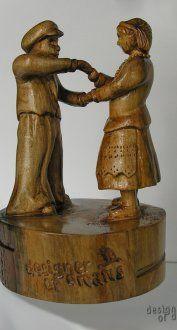 """rzeźba drewniana """"Mali Tancerze"""""""