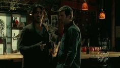 Duke And Nathan (Eric Balfour and Lucas Bryant) share a moment (Haven - Season 2 Episode 6)