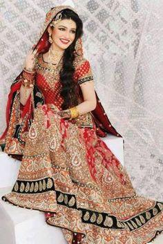[ Famous Ancient Indian Bride Paintings Indian Bridal Lehenga Designs ] - Best Free Home Design Idea & Inspiration Pakistani Bridal Makeup, Indian Bridal Lehenga, Indian Bridal Wear, Pakistani Bridal Dresses, Asian Bridal, Indian Dresses, Indian Outfits, Frock Design, Lularoe Kids Dresses