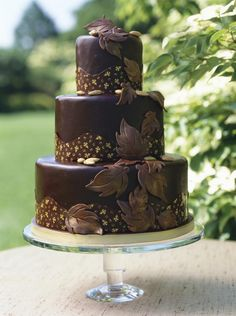 Chocolate Leaves for Cake Design