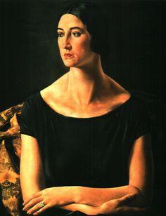 Ubaldo Oppi, portret van Laura, 1924