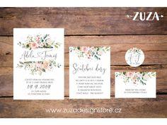 Svatební oznámení no.99. Originální svatební oznámení s moderním designem. Velikost: A6 (105x148mm) Tisk na kvalitní strukturovaný grafický papír 300g/m2 v profesionální tiskárně. Veškeré texty a font (typ písma) lze upravit podle vašeho přání - tyto úpravy jsou již zahrnuty v ceně. Při objednání min. 50ks svatebích... Summer Wedding, Wedding Decorations, Wedding Inspiration, Place Card Holders, Engagement, Program, Weddings, Design, Angels