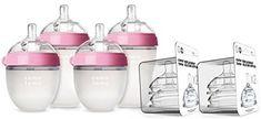 Amazon.com : Comotomo Newborn Bottle Set Pink : Baby Gifts For Expecting Parents, Bottle Feeding, Baby Bottles, Baby Feeding, Water Bottle, Baby Products, Amazon, Breastfeeding