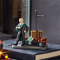 Department 56 Harry Potter Village Draco Waits at Platform 9 Figure 6003333 Slytherin, Hogwarts, Annabelle Doll, Retro Christmas Decorations, Animated Halloween Props, Trick Or Treat Studios, Galactic Toys, Barbie Collector, Collectible Figurines