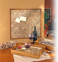 Cool idea for a wine cork pinboard