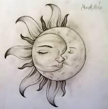 Moon Tattoo Designs Moon Design Tattoo Ideas Sun And Moon Tatoo Nature Drawing Pictures, Easy Nature Drawings, Nature Drawing For Kids, Pictures To Draw, Easy Drawings, Simple Pictures, Tatoo Henna, Tatoo Art, Love Tattoos