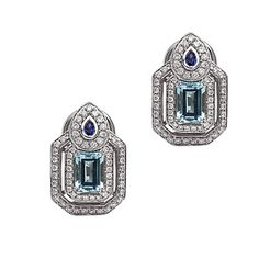 Charles Krypell Diamond Earrings