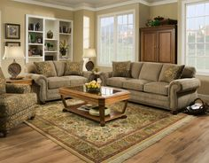 Tahoe Sage Sofa and Loveseat FORGET THE SOFA -I'M IN LOVE WITH THE RUG!