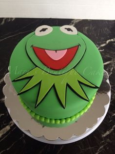 Kermit the Frog Cake - by Mari's Boutique Cakes
