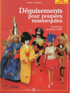 Herbie's Doll Sewing, Knitting & Crochet Pattern Collection: French Barbie Size Fancy Dress Outfits Book (Dégui...