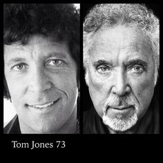 Tom Jones #aging and seems to have slowed down with Botox and spray tan.