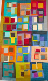 KAH says: This whole squared series is beautiful, but I particularly like the color combos in each of the blocks on this one.