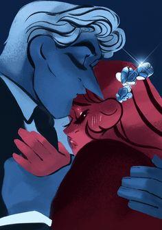 Lore Olympus Discover The Kiss an art print by Rachel Smythe Greek Mythology Art, Roman Mythology, Lore Olympus, Hades And Persephone, Moon Goddess, Goddess Art, Greek Gods, Gods And Goddesses, God Of War