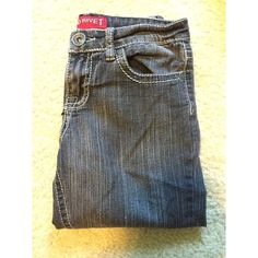 Kids size 12 grey jeans Super cute grey jeans! They are in good condition and are comfortable. They are skinny jeans So pretty for back to school. Red rivet Bottoms Jeans