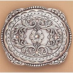 Foral Buckle With Ab Crystals