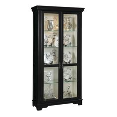 Shop Madison Black Wood Glass Metal Curio Cabinet with great price, The Classy Home Furniture has the best selection of to choose from Pulaski Furniture, Dream Furniture, Home Furniture, China Display, Wood Glass, Black Wood, China Cabinet, Curio Cabinets, Family Room