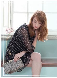 Hobo Colette Cheetah Shimmer Evening Bag. Add a vintage touch to your prim and proper look!