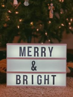 Led Light Box, Marquee Sign, Lightbox, Merry And Bright, Holiday, Quotes, Ideas, Art, Quotations